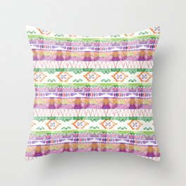 Watercolour Quilt #2 Throw Pillow