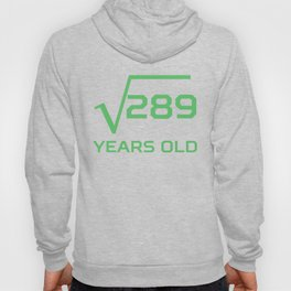 Square Root Of 289 Funny 17 Years Old 17th Birthday Hoody