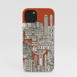 Hong Kong toile de jouy iPhone Case
