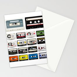 Collection of Retro Audio Cassette Tapes Stationery Cards