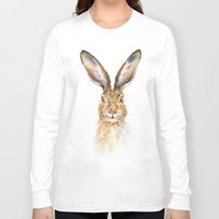 hare Long Sleeve T-shirts featuring HARE by Patrizia Ambrosini