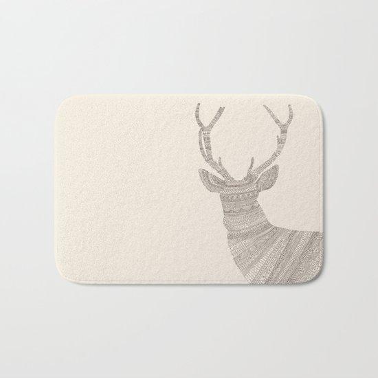 Stag / Deer (On Beige) Bath Mat