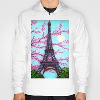 eiffel tower Hoodies featuring Eiffel Tower by ArtLovePassion