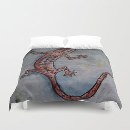 Salamander by Carla Dracus Duvet Cover