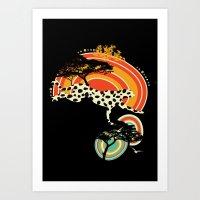 cheetah Art Prints featuring Cheetah by Dimitra Tzanos