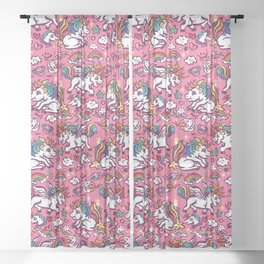 Baby unicorns Sheer Curtain