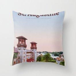 Visit St. Augustine Throw Pillow