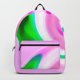 Pink Green Abstract Backpack