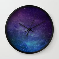 universe Wall Clocks featuring Universe by Space99