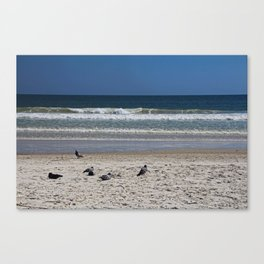 Watchin' the Tide Roll Away Canvas Print