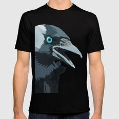 Corvus monedula has a stinking attitude MEDIUM Mens Fitted Tee Black