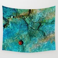ladybug Wall Tapestries featuring LadyBug by Sandy Broenimann