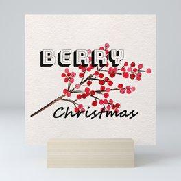 Happy berry christmas I Mini Art Print