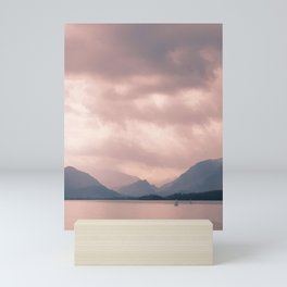 Derwent water and Borrowdale Valley Cumbria Mini Art Print