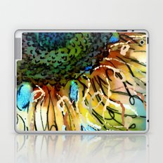 Sunflower Blues by Barbara Chichester Paintographer Laptop & iPad Skin
