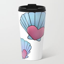 Seashell 💗 Metal Travel Mug