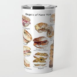 Bagels of New York City Travel Mug