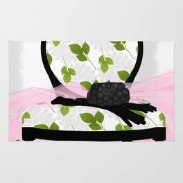 A Woman's Night Out II - Dressing room art Rug