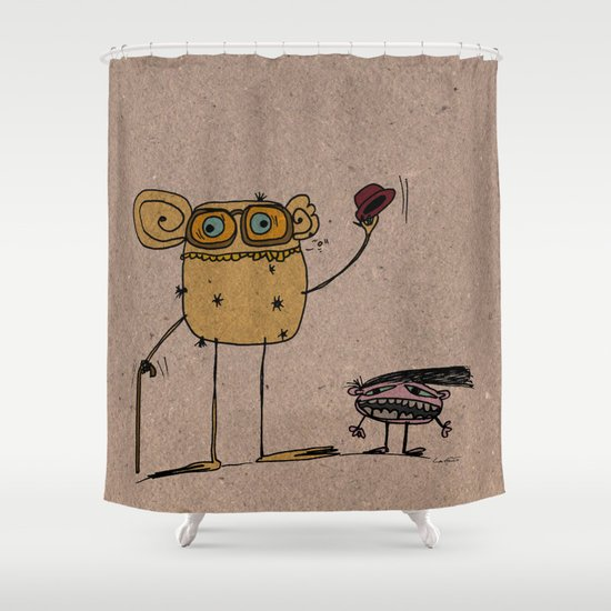 - thinking about family - Shower Curtain