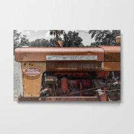Rusty Red McCormick 560 Vintage Farmall Tractor  Metal Print
