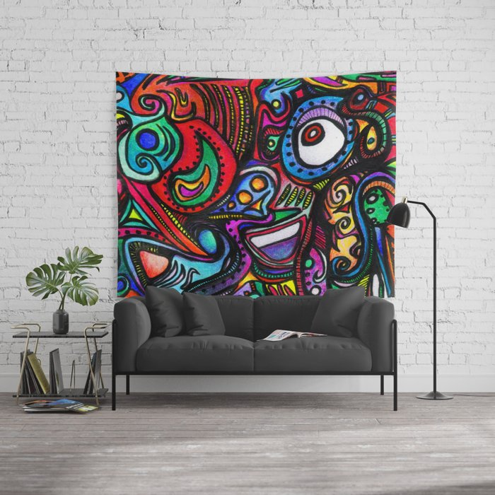 JellyFace Wall Tapestry
