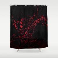 soul eater Shower Curtains featuring Soul Devourer by Explicit Designs