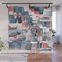 Layered Shapes Pattern Wall Mural