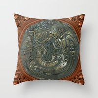 portal Throw Pillows featuring Portal by DesignsByMarly