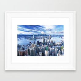 Hong Kong-Buildings Framed Art Print