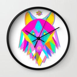 Vibrant Wolf Wall Clock