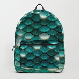 Turquoise sparkling mermaid glitter scales - Mermaidscales Backpack