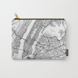 New York City Map of United States Carry-All Pouch
