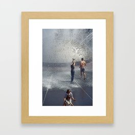Fountain Folks Framed Art Print