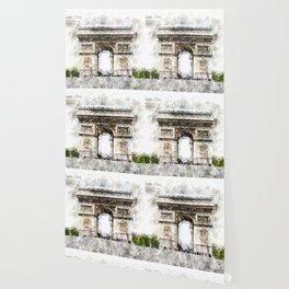 Arc de Triomphe, Aquarell Wallpaper