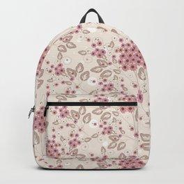 Delicate floral pattern. Backpack