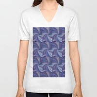 psych V-neck T-shirts featuring Purple Psych by Grace