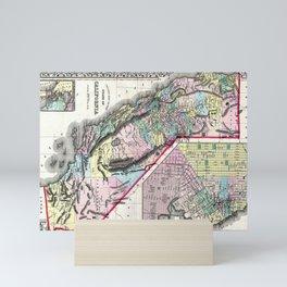 1872 Map of California and San Francisco Mini Art Print
