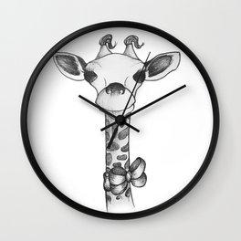 Little cute Giraffe Wall Clock