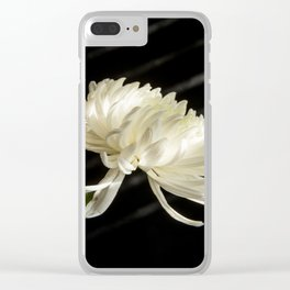 Single White Flower Clear iPhone Case