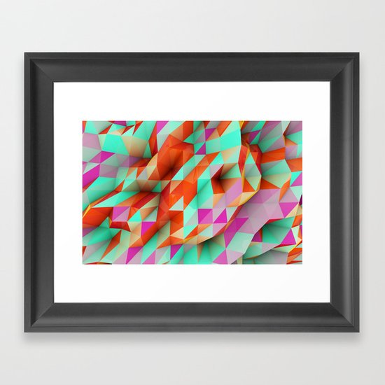 Polygons Sphere Abstract Framed Art Print