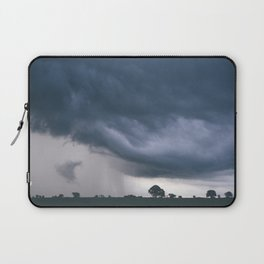 Evening thunder storm and clouds over rural scene. West Acre, Norfolk, UK. Laptop Sleeve