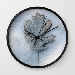 Snow Leaf Wall Clock