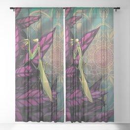 Praying Mantis Sheer Curtain