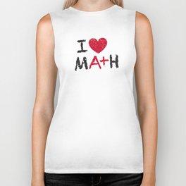 I Love Math Biker Tank