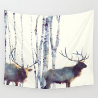 elk Wall Tapestries featuring Elk // Follow by Amy Hamilton