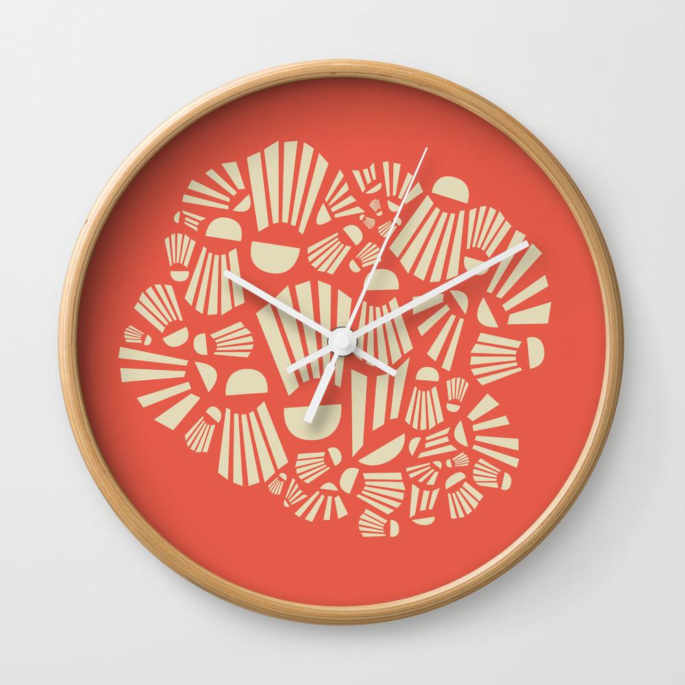 Badminton Wall Clock by noaccountingfortaste