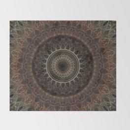 Mandala in brown tones Throw Blanket