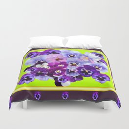 SPRING COLLECTION PURPLE-PINK PANSIES DESIGN Duvet Cover