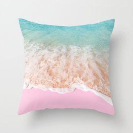 PINK SAND Throw Pillow