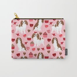 Cavalier King Charles Spaniel valentines day hearts valentine dog breed custom gift for dog lover Carry-All Pouch